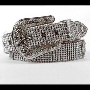 "Nocona XL rhinestone belt fits waist 31""-35"""